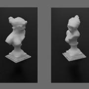 Modello 3D scolpito in Zbrush con supporti